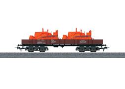 Märklin 4474 H0-Niederbordwagen beladen DB