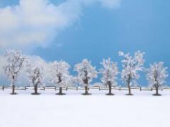 Winter-Bäume, 7 Stück