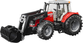 Bruder 03047 Massey Ferguson 7600 mit Frontlader, ab 3 Jahren, Maße: 50,8 x 20,3 x 22,9 cm, Kunststoff