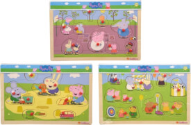 Simba Peppa Pig, Steckpuzzle, 3-sortiert.