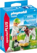 PLAYMOBIL 70252 Tierärztin mit Kälbchen