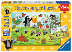 Ravensburger 08861 Puzzle Der Maulwurf im Garten 2x24 Teile