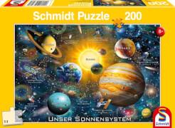 Schmidt Puzzle 56308 Unser Sonnensystem, 200 Teile, ab 8 Jahre