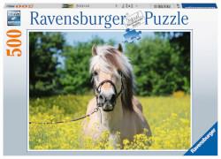 Ravensburger 15038 Puzzle Pferd im Rapsfeld 500 Teile