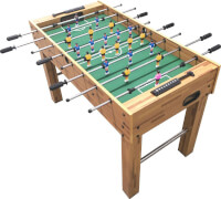 Natural Games Kickertisch 122 x 61 x 79 cm