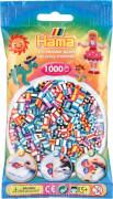HAMA 207-90 Bügelperlen Midi - gestreift Mix 1000 Perlen, 6 Farben, ab 5 Jahren