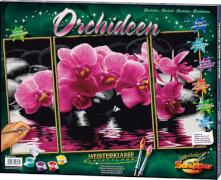 Simba Schipper Malen nach Zahlen - Orchideen (Triptychon) 50 x 80 cm