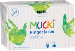 MUCKI Fingerfarben 6er Set 150 ml