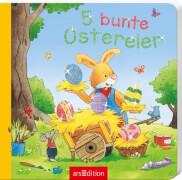 Ars Edition - Pappebuch, 5 bunte Ostereier