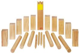 GoKi Wikingerspiel Kubb, Krone gelb, im Baumwollbeutel