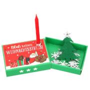 Depesche 10254 Kleine Weihnachtsschachtel mit Kerze