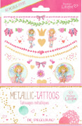 Metallic Tattoos Prinzessin Lillifee (mit Goldfolie)