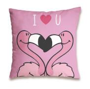 Kissen Flamingo ''I <3 U'', pin